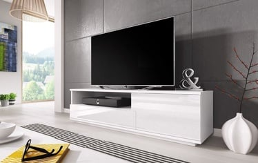 TV galds Cama Meble Muza White, 1380x400x410 mm