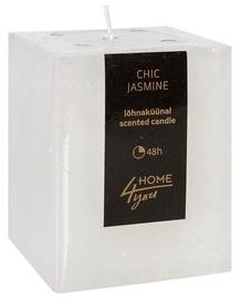 Ароматическая свеча Home4you Candle Chic Jasmine 7.5x7.5xH10см White