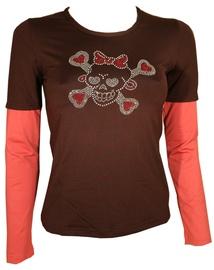 Bars Womens Long Sleeve Shirt Brown 102 S