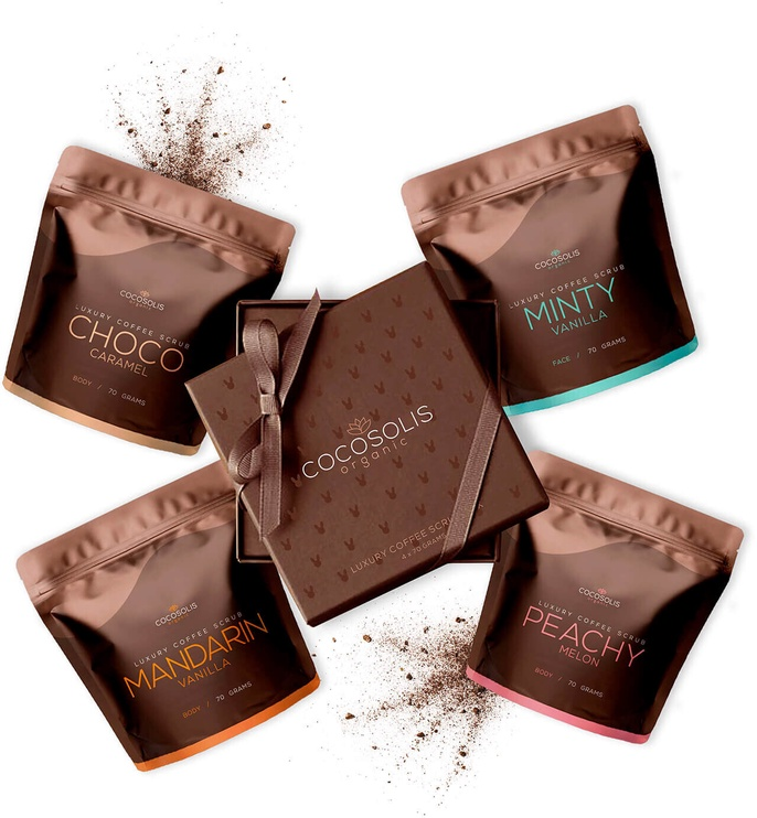 Cocosolis Luxury Coffee Scrub Box 4x70g