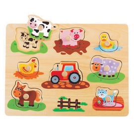Wooden Educational Puzzle Farm L20064