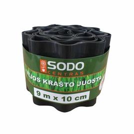 Apmale zālienam/dobēm Sodo Centras, 10x900cm, melna
