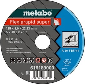 Metabo Flexiarapid Super 125x1x22.23mm Steel TF 41