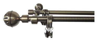 Dvigubo karnizo komplektas Futura F511887, 300 cm, Ø 16 mm