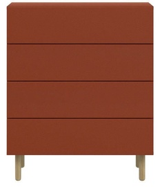 Black Red White Moko Chest Of Drawers KOM4S Claret