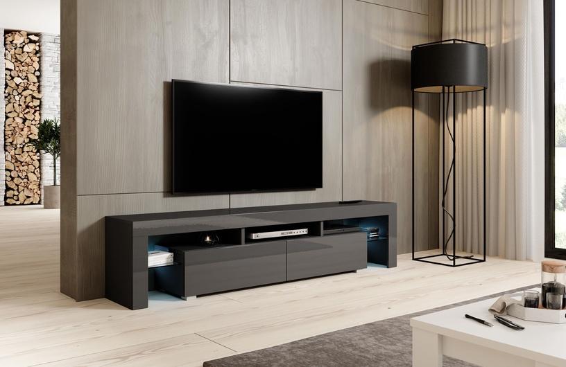 TV galds Cama Meble Toro 200, pelēka, 2000x400x410 mm