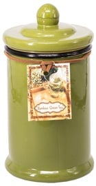 Home4you Pottery Candle Jar Large Green
