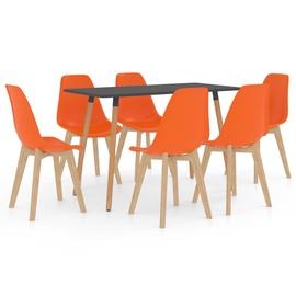 Обеденный комплект VLX 7 Piece 3056068, oранжевый
