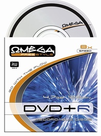 Kompaktinis diskas DVD+R Omega Freestyle, 4,7 GB