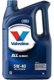 Motoreļļa Valvoline All Climate Diesel 5W - 40, sintētiskais, vieglajam auto, 5 l