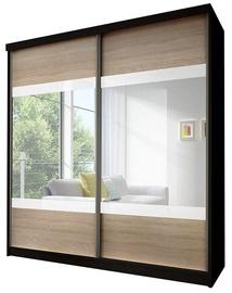 Idzczak Meble Wardrobe Multi 12 Black/Sonoma Oak