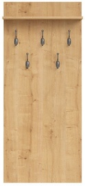 Black Red White Coat Rack Porto Burlington Oak
