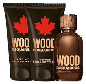 Rinkinys vyrams Dsquared2 Wood Pour Homme Gift Set 3pcs 150 ml EDT