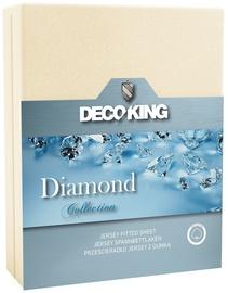 Palags DecoKing Diamond, bēša, 220x200 cm, ar gumiju