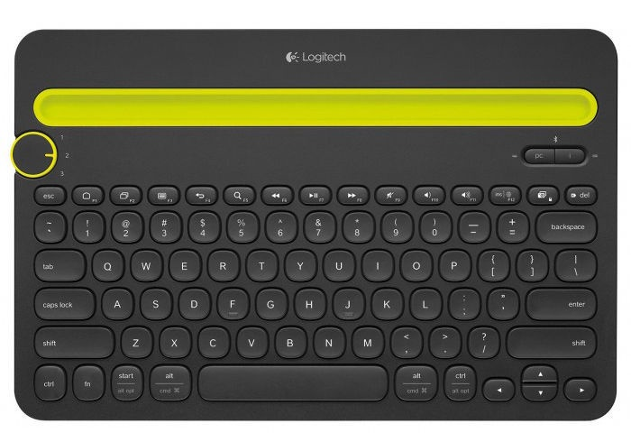 Клавиатура Logitech K480 EN/RU, черный, беспроводная