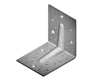 Tvirtinimo kampas, sutvirtintas, 105 x 105 x 90 x 2.5 mm