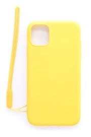 Evelatus Soft Touch Back Case With Strap For Apple iPhone 11 Yellow