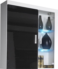 Cama Meble Samba Hanging Display Cabinet White/Black Gloss