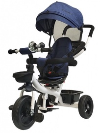 Tesoro BT-13 Baby Tricycle White Navy Blue