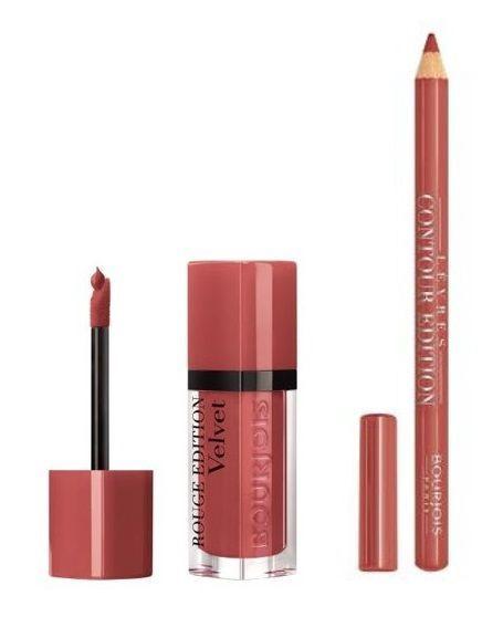 Комплект Bourjois Paris Rouge Edition Velvet Beau Brun + Corail Aie Aie