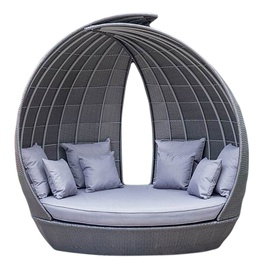 Home4you Wing Sofa w/ Roof Grey