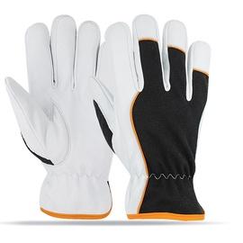 SN Leather Gloves AB-3383 10 White/Black