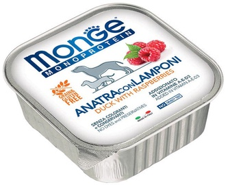 Monge Monoproteinic Fruits Pate Duck/Raspberries 150g