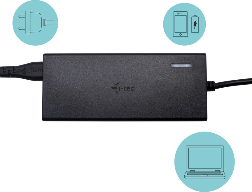 i-Tec USB-C Dual Display Docking Station with PD 65W + Universal Charger 77W
