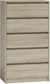 Top E Shop Karo K5 Chest of 5 Drawers Sonoma