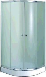 Gotland Eko Shower 80x195x80 Satin/White