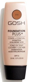 Gosh Foundation Plus+ Cover + Conceal SPF15 30ml 10