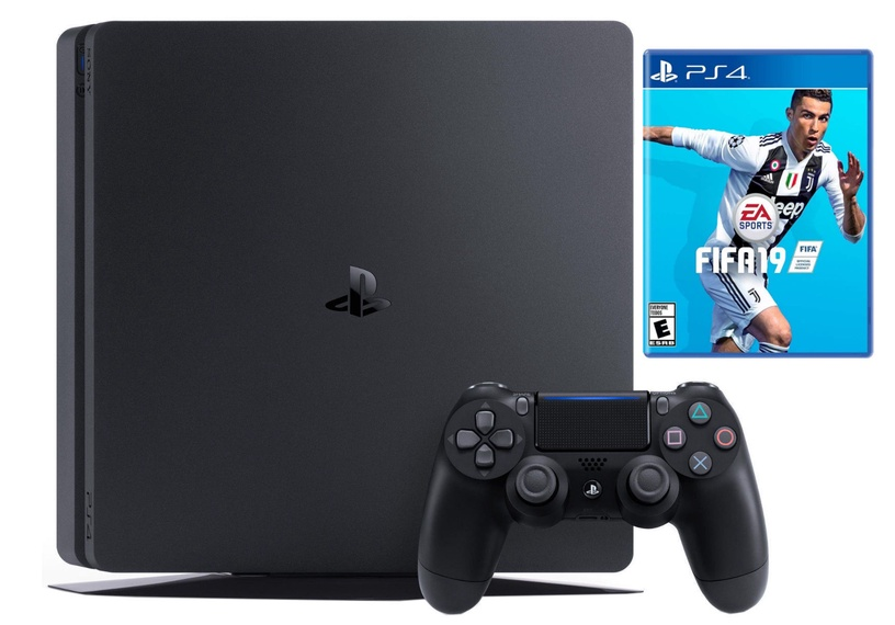 Sony Playstation 4 (PS4) Slim 500GB Black + Fifa 19