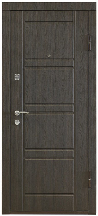 Plieninės vidaus durys PO-09, wenge, dešininės, 86x205 cm