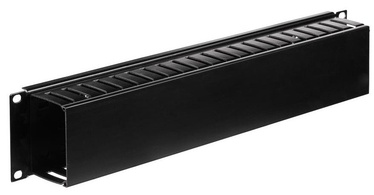 Netrack Cable Organizer 19'' 2U With Cover Black