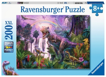 Dėlionė Ravensburger XXL King Of The Dinosaurs, 200 dalių