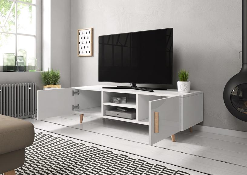 TV galds Vivaldi Meble Sweden 2, balta, 1400x420x500 mm