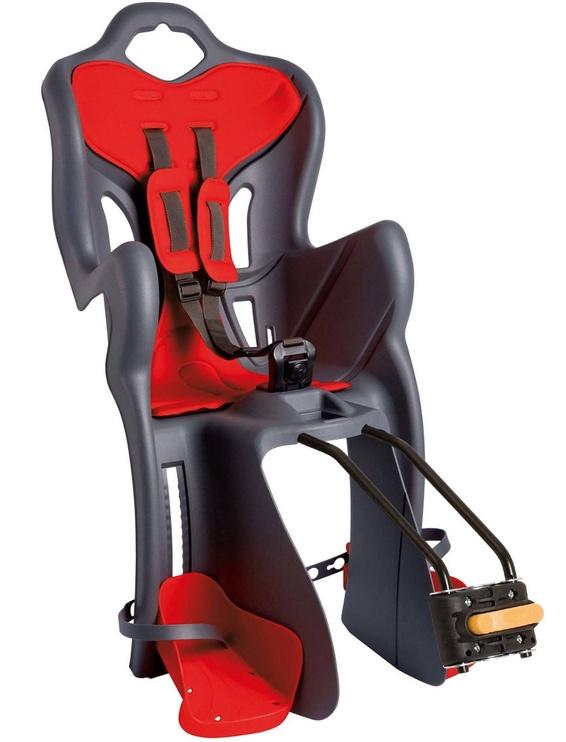Детское кресло для велосипеда Bellelli One Standard F22192, синий/красный, задняя