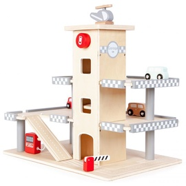 EcoToys Wooden Garage With Elevator