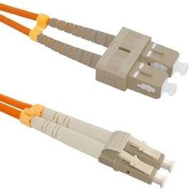 Qoltec Fiber Optic Cable Multimode SC/UPC to LC/UPC 50/125 OM2 3m