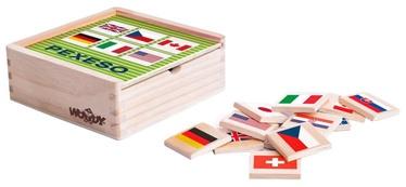 Stalo žaidimas Woodyland Wooden Memory Game Flags 44pcs