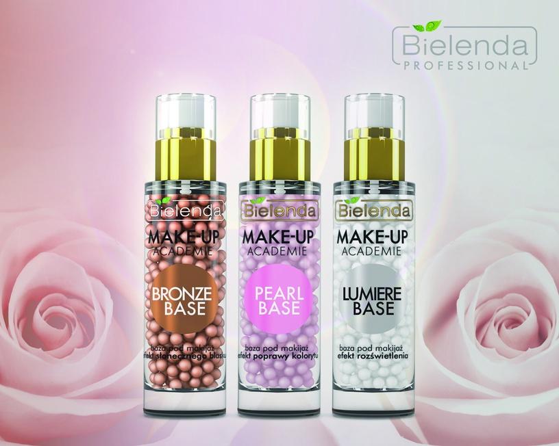Makiažo pagrindas Bielenda Make-Up Academie Pearl Base Rose, 30 g