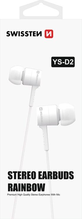 Ausinės Swissten Rainbow YS-D2 In-Ear White