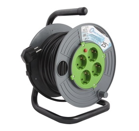 Cable reel Electraline El Brico 3G1.0VVF, 4P, 25 m
