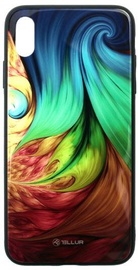 Tellur Glass Print Back Case For Apple iPhone X/XS Mesmeric