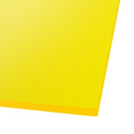Ohne Hersteller Acrylic Glass GS Transparent Yellow 500x500mm