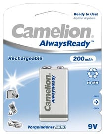 Camelion AlwaysReady Rechargeable Batteries Ni-MH 9V Block 200mAh