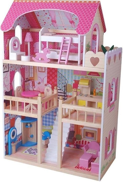 Bino Dollhouse With Furnitures