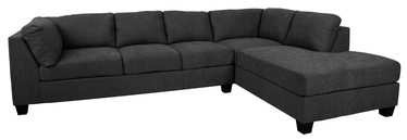 Kampinė sofa Home4you Helmy Dark Gray, dešininė, 210 x 309 x 82 cm