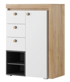 Szynaka Meble Riva 04 Chest Of Drawers White/Black/Oak