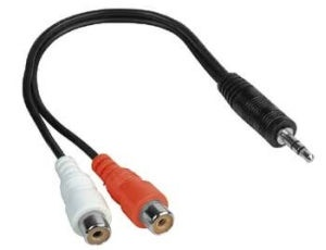 Hama Cable RCA x2 to 3.5 mm